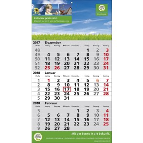 1-Block-Wandkalender 2Plus  '1-sprachig'