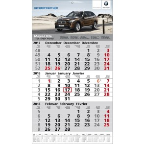 1-Block-Wandkalender 1Plus  '3-sprachig'
