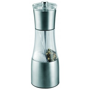 "Metmaxx® Salz-& Pfeffermühle ""OrganicDuo"" silber"