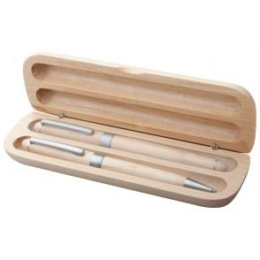 Kugelschreiber Set aus Holz ''Nawodu''