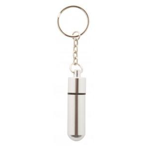 Schlüsselanhänger mit Pillenbox ''Alumpill''
