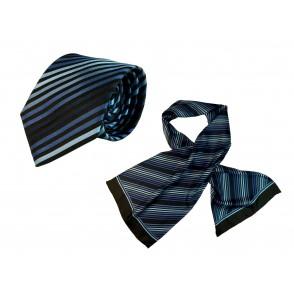 Set (Krawatte, Reine Seide + Schal, Reine Seide Tw
