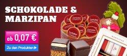 Schokolade und Marzipan zu Weihnachten verschenken