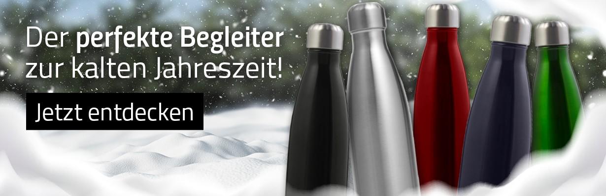 Isolierflaschen mit Druck oder Gravur