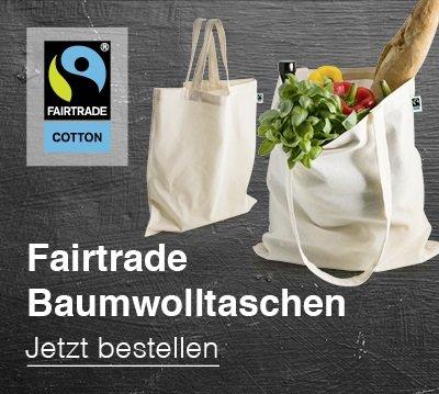 Bio-Fairtrade Baumwolltaschen als Werbeartikel bedrucken