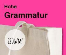 Baumwolltaschen mit hoher Grammatur