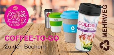 Coffee-to-go Becher mit Logo