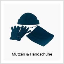 Mützen und Handschuhe als Werbekleidung bedrucken